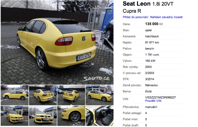 Seat Leon Cupra R | Foto sauto.cz